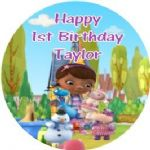 Personalised Edible Doc McStuffins Cake Topper